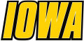 Iowa Hawkeyes 2002-Pres Wordmark Logo 04 iron on sticker