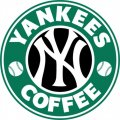 New York Yankees Starbucks Coffee Logo iron on sticker