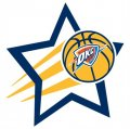 Oklahoma City Thunder Basketball Goal Star logo iron on sticker
