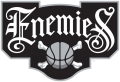 Enemies 2019-Pres Primary Logo iron on sticker