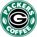 Green Bay Packers starbucks coffee logo decal sticker