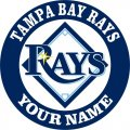 Tampa Bay Rays Customized Logo decal sticker
