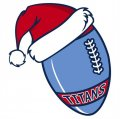 Tennessee Titans Football Christmas hat logo decal sticker