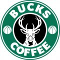 Milwaukee Bucks Starbucks Coffee Logo decal sticker