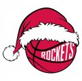 Houston Rockets Basketball Christmas hat logo iron on sticker