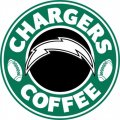 Los Angeles Chargers starbucks coffee logo decal sticker