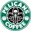 New Orleans Pelicans Starbucks Coffee Logo decal sticker