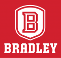 Bradley Braves 2012-Pres Primary Dark Logo iron on sticker