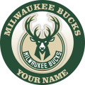 Milwaukee Bucks Customized Logo iron on sticker
