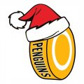 Pittsburgh Penguins Hockey ball Christmas hat logo iron on sticker