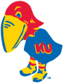 Kansas Jayhawks 1923-1928 Primary Logo iron on sticker