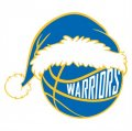 Golden State Warriors Basketball Christmas hat logo iron on sticker