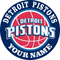 Detroit Pistons custom logo Customized Logo iron on sticker