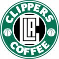 Los Angeles Clippers Starbucks Coffee Logo decal sticker