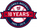 Washington Nationals 2015 Anniversary Logo decal sticker