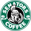 Ottawa Senators Starbucks Coffee Logo iron on sticker