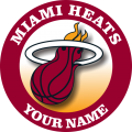 Miami Heats Customized Logo iron on sticker