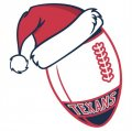 Houston Texans Football Christmas hat logo decal sticker
