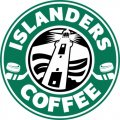 New York Islanders Starbucks Coffee Logo iron on sticker