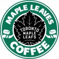 Toronto Maple Leafs Starbucks Coffee Logo iron on sticker