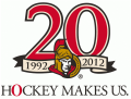 Ottawa Senators 2011 12 Anniversary Logo decal sticker