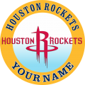 Houston Rockets custom logo Customized Logo iron on sticker