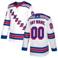 New York Rangers Custom Letter and Number Kits for White Jersey