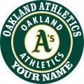 Oakland Athletics Customized Logo decal sticker