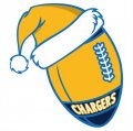 San Diego Chargers Football Christmas hat logo decal sticker