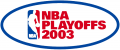 NBA Playoffs 2002-2003 Logo decal sticker
