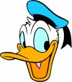 Donald Duck Logo 49 iron on sticker