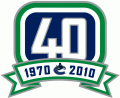 Vancouver Canucks 2010 11 Anniversary Logo iron on sticker