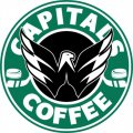 Washington Capitals Starbucks Coffee Logo iron on sticker