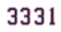 Montreal Canadiens number 333311 decal sticker