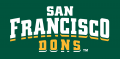 San Francisco Dons 2012-Pres Wordmark Logo 04 decal sticker