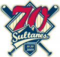 Monterrey Sultanes 2009 Anniversary Logo iron on sticker
