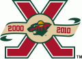 Minnesota Wild 2010 11 Anniversary Logo decal sticker