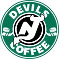 New Jersey Devils Starbucks Coffee Logo iron on sticker