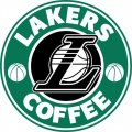 Los Angeles Lakers Starbucks Coffee Logo decal sticker