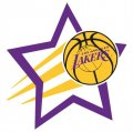 Los Angeles Lakers Basketball Goal Star logo iron on sticker