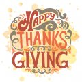 Thanksgiving Day Logo 25 decal sticker