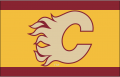Calgary Flames 2010 11 Throwback Logo decal sticker