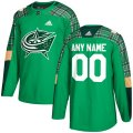 Columbus Blue Jackets Custom Letter and Number Kits for Green Jersey
