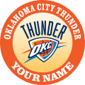 Oklahoma City Thunder custom Customized Logo iron on sticker