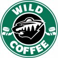 Minnesota Wild Starbucks Coffee Logo iron on sticker
