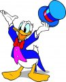 Donald Duck Logo 43 iron on sticker