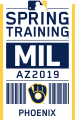 Milwaukee Brewers 2019 Event Logo iron on sticker