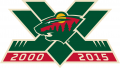 Minnesota Wild 2015 16 Anniversary Logo decal sticker