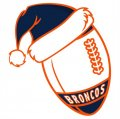 Denver Broncos Football Christmas hat logo decal sticker