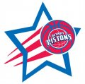 Detroit Pistons Basketball Goal Star logo iron on sticker